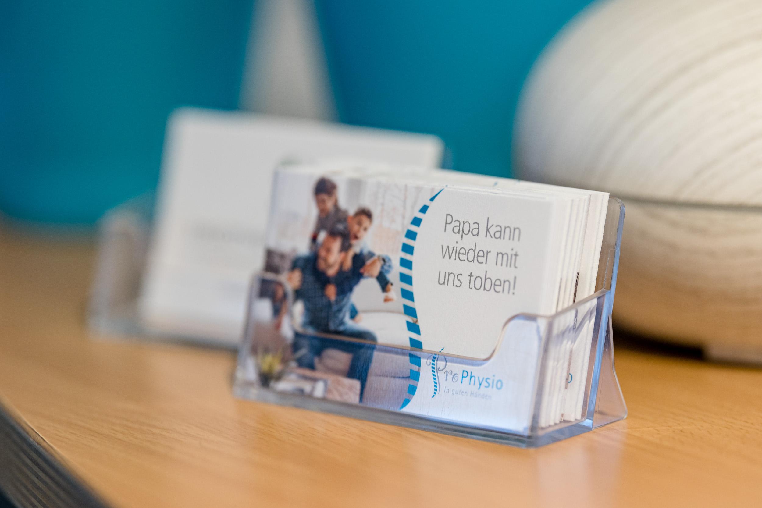 ProPhysio Physiotherapie Hamm Visitenkarten